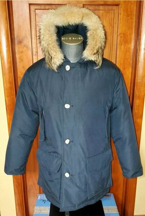 Woolrich John Rich & Bros w/ Fox Fur Hood Ruff Down Waterproof Blue Arctic Parka Size MEDIUM for Sale in Niagara Falls, NY