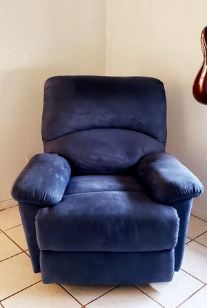 Blue Suede Recliner Brand New pick up only for Sale in Ramona, CA
