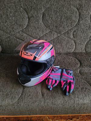 HJC Helmet/Icon Gloves for Sale in Swansea, MA