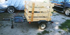 5x6 utility Trailer + Accessories & Clean Title for Sale in Denver, CO