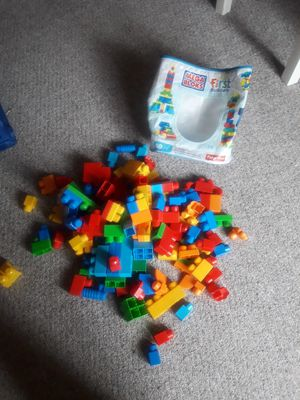 Kids maga blocks and fire truck and train for Sale in Newington, CT