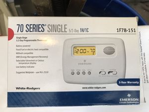 Emerson 70 series single stage programmable thermostat for Sale in Little Rock, AR