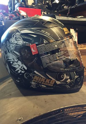 New flat black and grey dot motorcycle helmet on sale $60 for Sale in Santa Fe Springs, CA