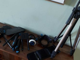 Entry Level Shoulder/handheld Camera Rig, Mini Tripod, 3 Lens Filters And Filmmakers Hand Book for Sale in Los Angeles,  CA
