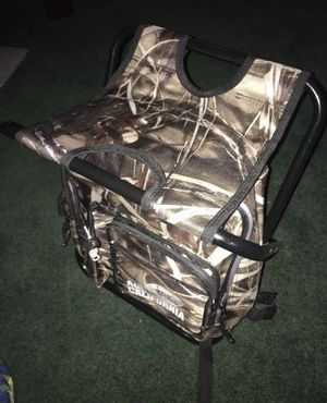 Seat Chair/ Back Pack Insulated Camo for Sale in Fresno, CA