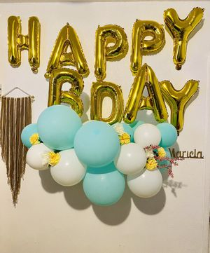 Teal Blue Mini Balloon Garland for Sale in Los Angeles, CA