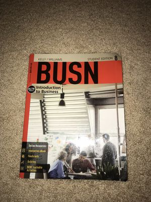 BUSN: Introduction to Business 8th Edition (includes access code) W/ FREE PENLIGHT JUST IN TIME FOR HOLDAY SEASON! for Sale in Tampa, FL