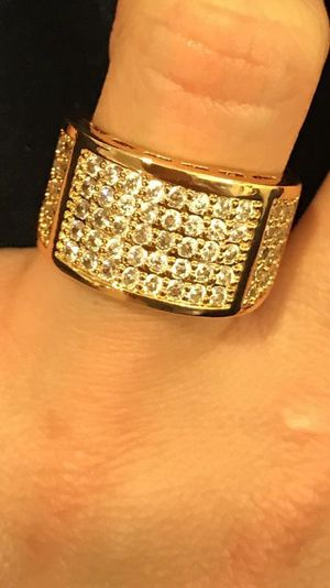 Unisex- 18K Yellow Gold plated - Multi Diamond Design Ring- Code GD901 for Sale in Boston, MA