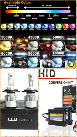 Hid replacement headlight bulbs & kits & led headlight bulbs - any ride bmw Mercedes Toyota Tacoma tundra nissan armada titan Altima chrylser for Sale in Phoenix,  AZ