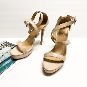 size 8 XYD Women Comfy Ankle Wrap High Heel Open Toe Pumps Sandals for Sale in Las Vegas, NV