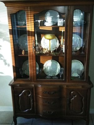 China Cabinet Real Wood for Sale in Belle Isle, FL