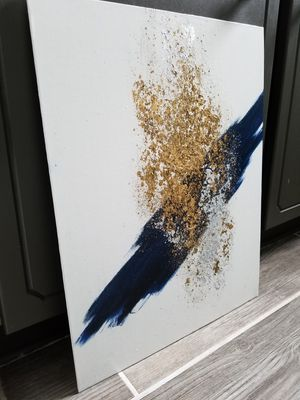 Wall Art, Blue Abstract Painting for Sale in Clayton, NC
