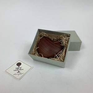 Heart shaped wood music box(Music <Always With Me> red sandal wood) for Sale in Ontario, CA