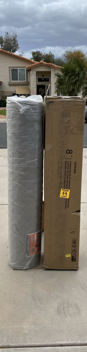 """8"""" Grey Independently Encased Coil Futon Mattress - Room & Joy for Sale in Peoria, AZ"""