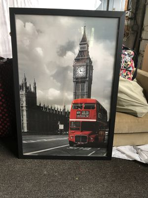 London picture in black frame for Sale in Great Falls, VA