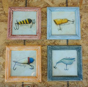 """""""FISHING LURE"""" PICTURES, SET OF 4 for Sale in Glendale, AZ"""