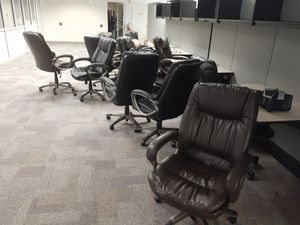 Free. 15 office Chairs - Black, High Back for Sale in Boca Raton, FL