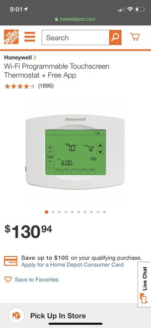 Honeywell Programmable Thermostat NEW for Sale in Fresno, CA