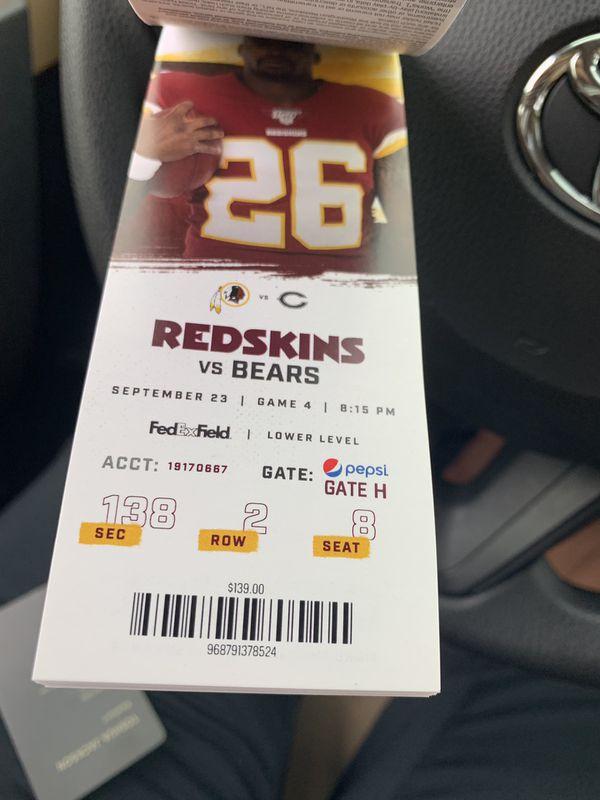 Redskins seasonal tickets