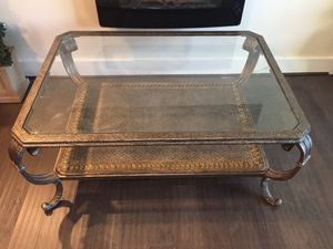 Glass top coffee table for Sale in Ashburn, VA