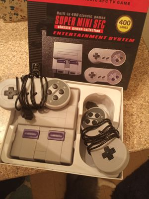 Super mini sfc classic games collection entertainment system 400 games for Sale in Las Vegas, NV
