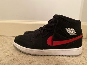 Jordan 1 mid multi-color swoosh black (size 8.5) for Sale in Burke, VA