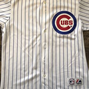 Alfonso Soriano #12 Chicago Cubs MLB Baseball Pinstripe White Jersey Mens XL for Sale in IL, US
