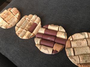 Wine cork coasters for Sale in Alexandria, VA