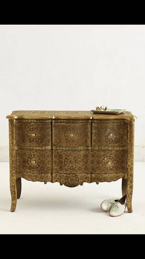 Anthropologie Hand-Embossed Four-Drawer Dresser for Sale in Nashville, TN