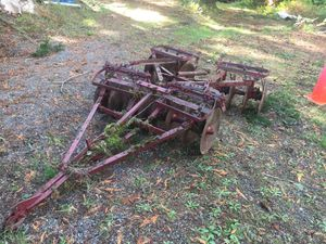 Old tiller used with Farmall tractor for Sale in Puyallup, WA