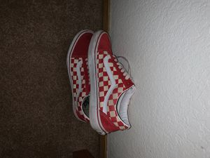 Old Skool Checkered Vans (Red) for Sale in Puyallup, WA