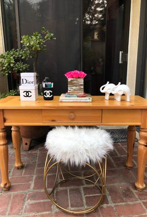 Desk Vanity Table Console Hallway Entry French Farmhouse Shabby Chic - delivery 🚚 is available for Sale in Burbank, CA