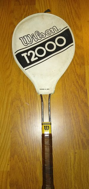 Vintage Wilson T2000 Tennis Racket Great Shape for Sale in Wake Forest, NC