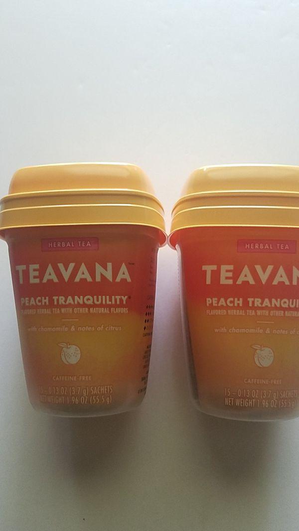 Teavana herbal tea peach set of two new