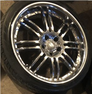 20 inch staggered chrome rims for Sale in Boston, MA