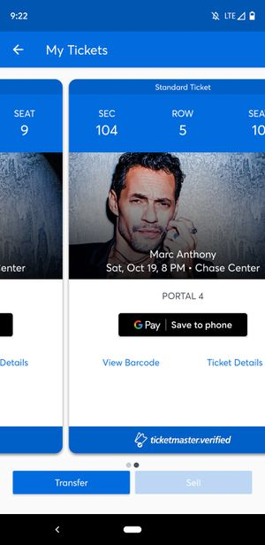 Marc Anthony tickets for Sale in San Mateo, CA