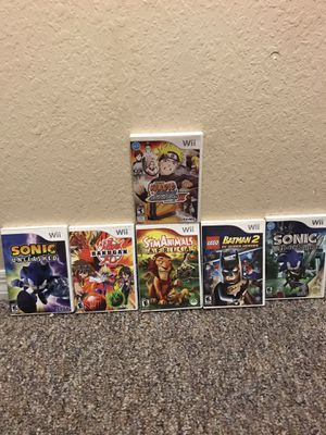 WII Game Lot! 7 Wii Games In AMAZING CONDITION!!! Pickup only!!! 20 dollars!!! for Sale in Tampa, FL