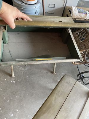 Green antique desk for Sale in Tracy, CA