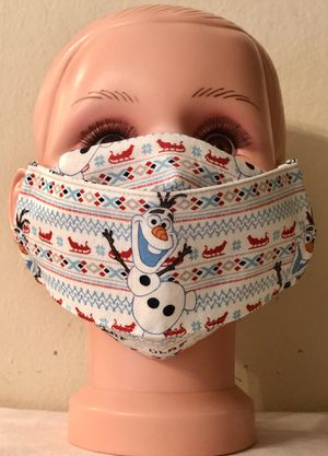 Christmas Disney Olaf Kid Size 3D Face Mask for Sale in San Jose, CA
