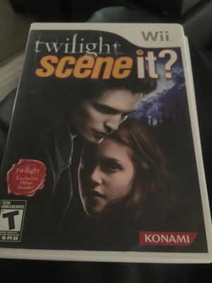 Twilight scene it wii game for Sale in Sacramento, CA