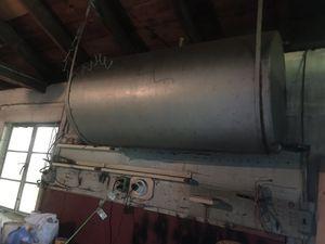 Fuel Oil Drum 4' x 2' will make good bbq smoker for Sale in St. Petersburg, FL