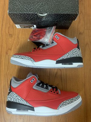 Jordan 3 Red Cement size 10.5 for Sale in Washington, DC