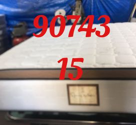 "12"" Thick foam encase pillow top mattress. Free delivery. Twin Mattress only-$199 Mattress & box spring-$235 Full Mattress only-$265 Mattress and for Sale in Huntington Beach,  CA"