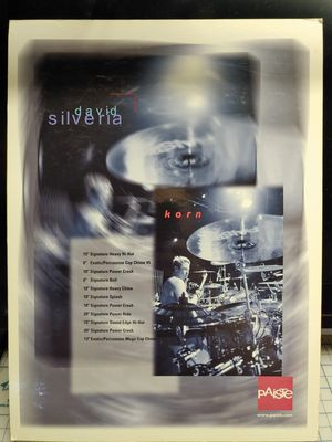 2001 display ad for Paiste cymbals featuring ex Korn drummer David Silveria for Sale in Brentwood, CA
