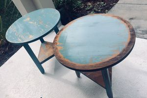 """2 Tables & MORE‼️ Beachy, Rustic, USA made Side or Accent Tables🕊Please Click """"Read more"""" for Tables for Sale in Alafaya, FL"""