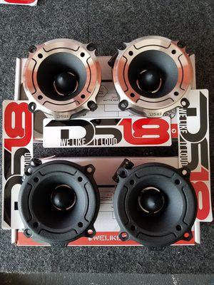 Ds18 Pro Bullet twitters Loud ! $30 a set(2)/Tweeter de bala ds 18 audio $30 el par(2) for Sale in Houston, TX