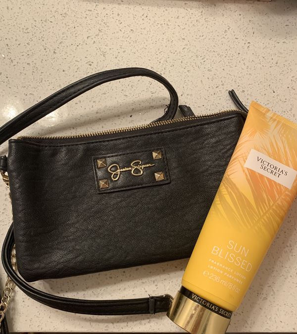 Jessica Simpson bag and Victoria secrect lotion