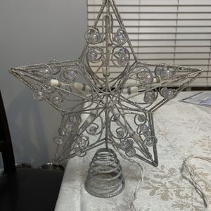 Silver Glitter Christmas Tree Star for Sale in Fontana, CA