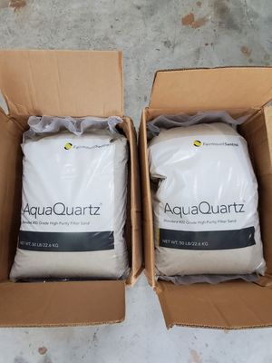 2 unit Aquaquartz Commercial Residential Swimming Pool Filter Sand #20 Grade-50 Lb Bag for Sale in Casselberry, FL