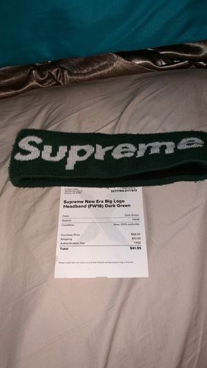 Supreme green headband for Sale in West Chicago, IL